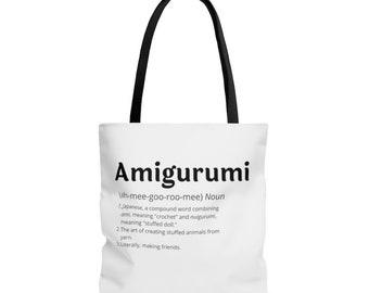 "Yarn Tote Bag, ""Amigurumi"" crochet project bag - Three sizes"