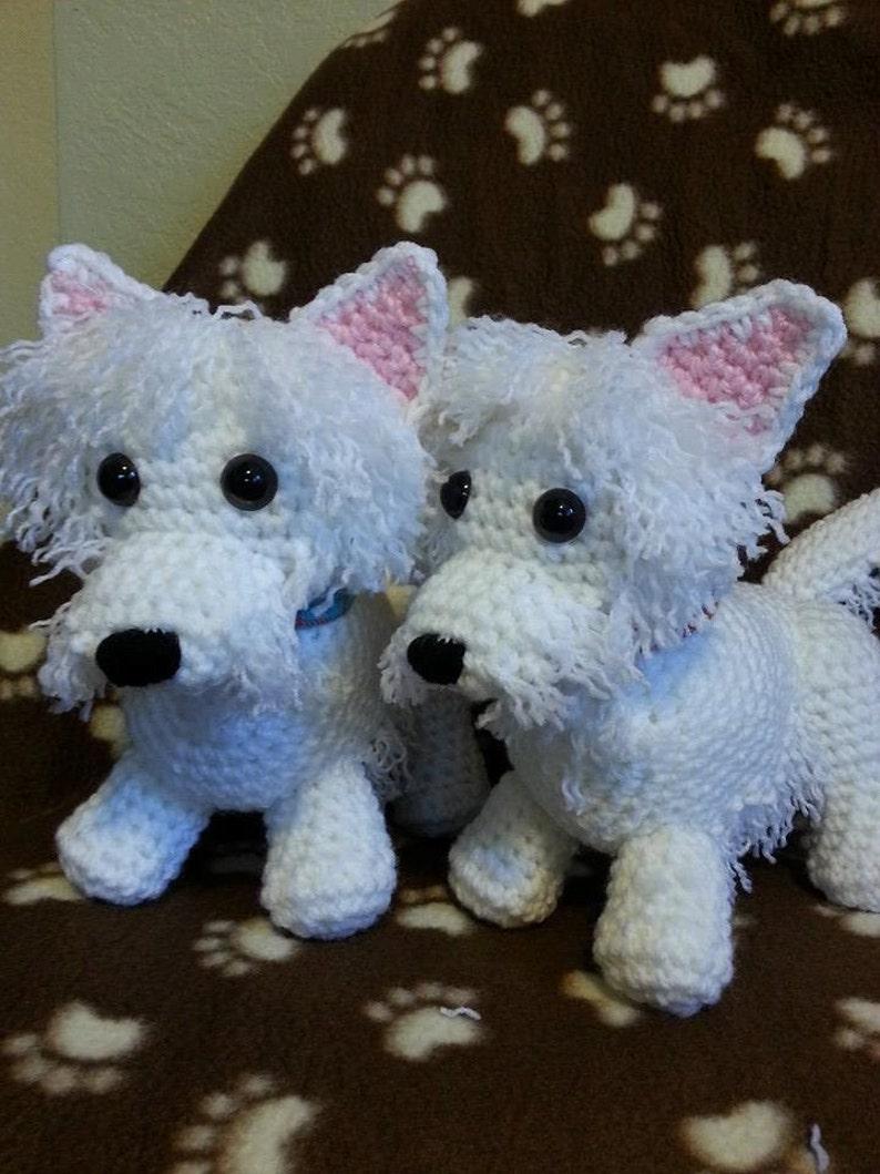 Scotty Scottie Puppy Dog In Loop Stitch Crochet Toy Pattern