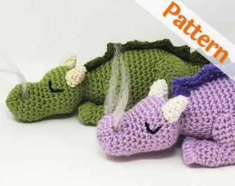 Baby Dragon Crochet Pattern, Amigurumi with Smoke, Fizzle