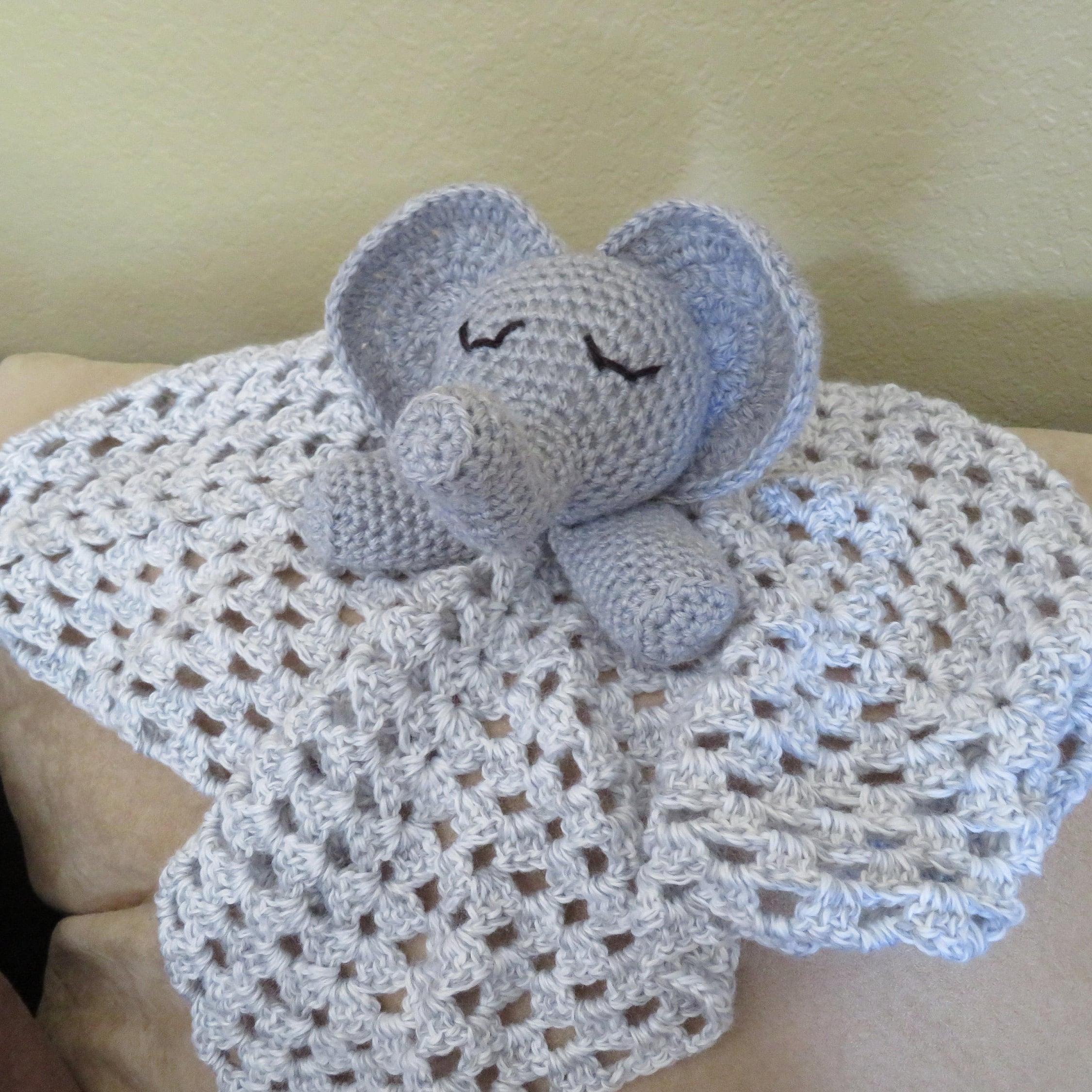 Elephant Blanket Crochet Pattern Lovey Elephant Amigurumi Etsy
