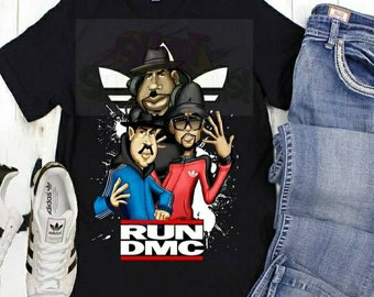 Run DMC Shirt, Hip Hop Music  Tshirt, 90s Hip Hop Shirt, Caricature Tshirt, Graphics Tee, Graphics Shirt, RunDMCTshirt, Ole Skool Music Tee