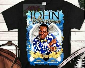 John Witherspoon Shirt, Pop Shirt, Tv Sitcom Tshirt,  Old TV sitcom Shirt, Caricature Tshirt, Graphics Tee, Graphics Shirt, John Witherspoon