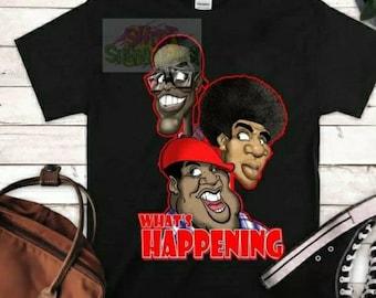 Whats Happening Shirt, Rerun  Shirt, Tv Sitcom Tshirt,  Old TV sitcom Shirt, Caricature Tshirt, Graphics Tee, Graphics Shirt,