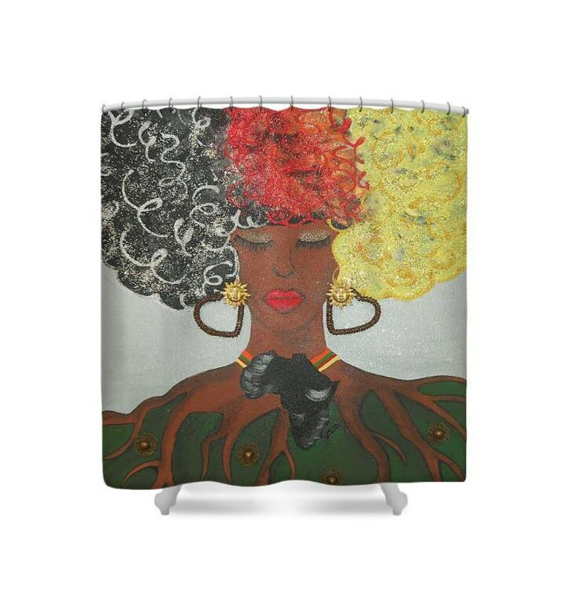 Mother Earth Africa Shower Curtain Afrocentric