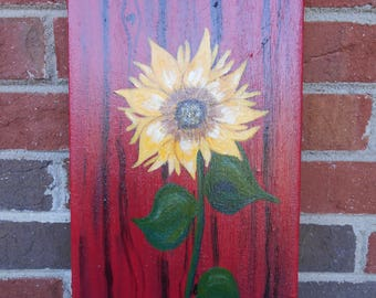 Sunflower Acrylic Painting, Sunflower Painting, Sunflower Picture, Sunflower Art
