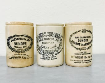 Antique Dundee Marmalade Jar Candle / 100 % Soy Wax Candle / Hand Poured / Cotton Wick / Orange Marmalade Scent / Farmhouse Decor