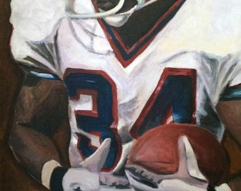 """20""""x30"""" COLOR Thurman Thomas Stretched Canvas Limited Edition Print (each individually signed & numbered out of 100)"""