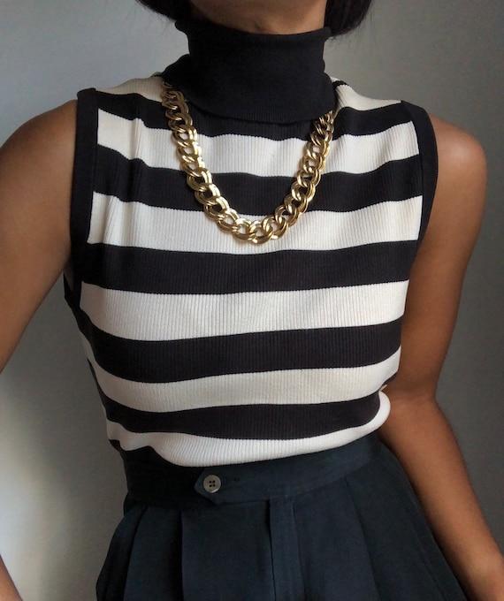 vintage 90s KORS ribbed sleeveless striped essenti