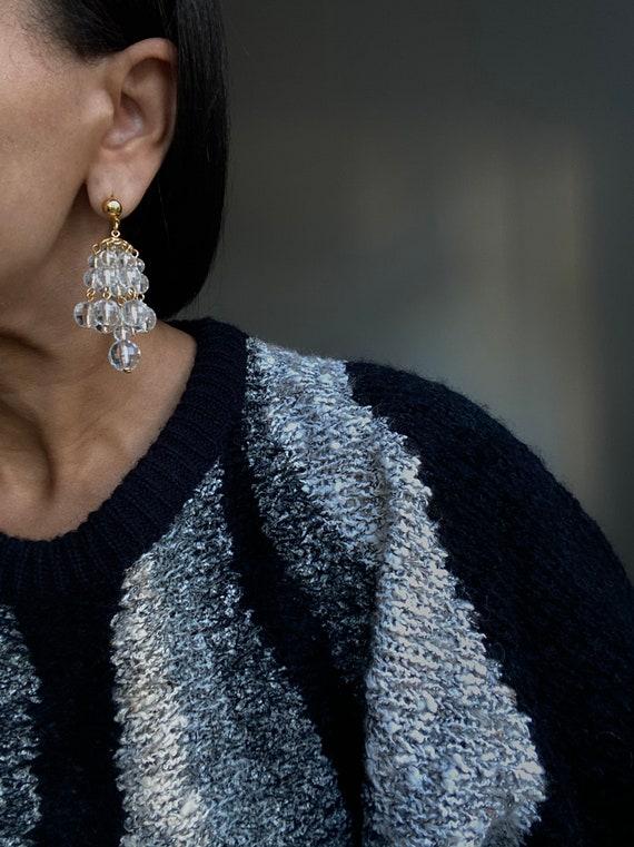 vintage cluster chandelier earrings - image 2
