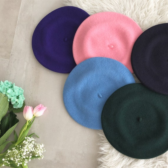 vintage pure wool classic beret