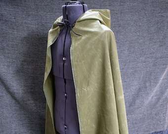 Waxed Canvas Hooded Cloak