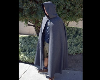 Wool Hooded Cloak
