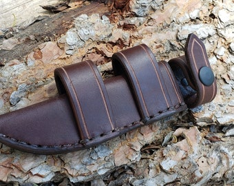 Leather Scout Sheath for the Short Ka Bar Fighting Knife