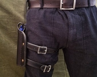 Handmade Leather Thigh Holster