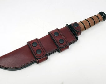 Leather Scout Sheath for the Ka Bar Big Brother
