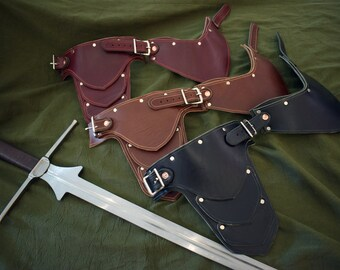 Handmade Leather Gorget Style 1