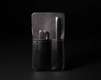 Handmade Leather 2 Slot Pocket Organizer