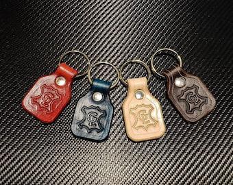 Grommets Leathercraft logo keychain