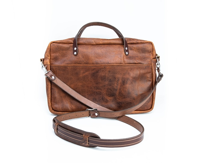 Featured listing image: Bison Leather Briefcase Satchel