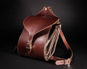 Leather Cinch Top Backpack