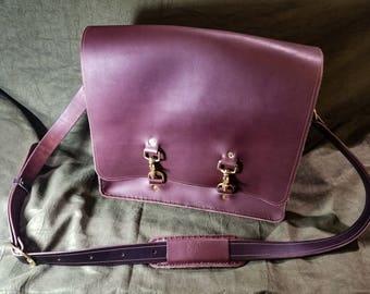 Handmade Leather Messenger Bag