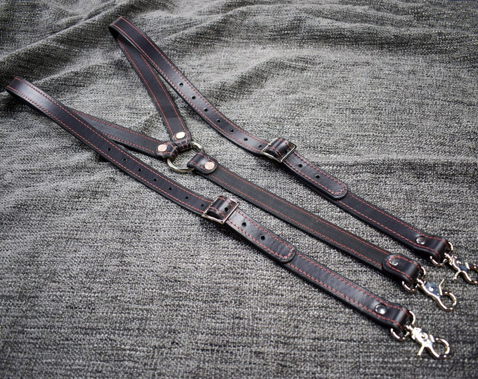 Featured listing image: Upgraded Leather Suspenders