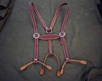 Handmade Leather Lederhosen Suspenders