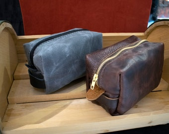 Leather or Canvas Dopp Kit/ Toiletry Bag