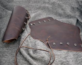 Soft Leather Mirkwood Vambraces