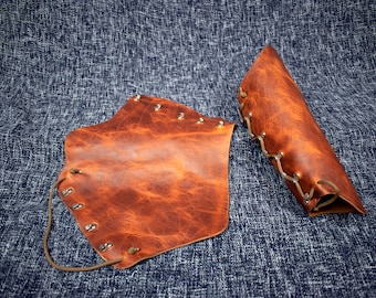 Soft Leather Mirkwood Vambraces
