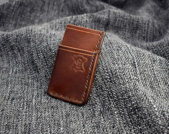 "IN STOCK* ""Dhillon"" Wallet in Bourbon Horween Shell Cordovan"