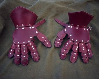 Handmade Leather Gauntlets