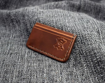 "IN STOCK Bourbon Horween Shell Cordovan ""Manu"" Wallet"