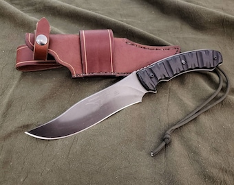 Handmade Leather Sheath for the TOPs Longhorn Bowie