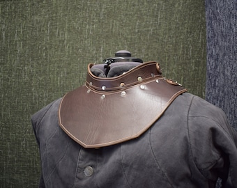 Handmade Leather Gorget Style 2