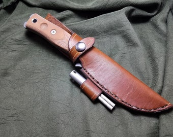 Handmade leather Sheath for the TOPS Fieldcraft Knife