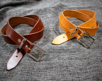 Handmade Leather Dress Belt