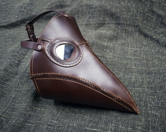 Handmade Leather Plague Doctor Mask