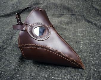 Handmade Leather Plague Doctor Mask