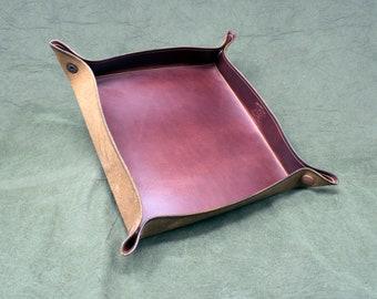 Handmade Leather Valet Tray