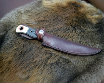 Handmade Leather Sheath for the Benchmade Meatcrafter