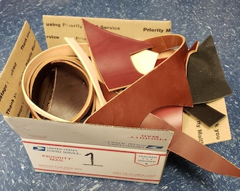 Box of Scrap Leather
