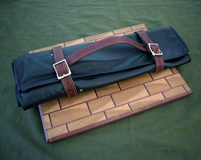 Featured listing image: Handmade Leather Knife Roll