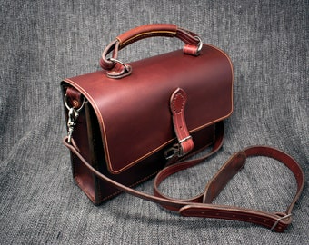 "The ""MAC"" Leather Shoulder Bag"
