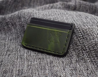 "IN STOCK* Custom Black and Green ""Manu"" Wallet"