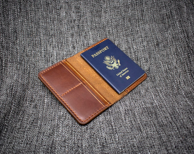 Featured listing image: Handmade Leather Passport Wallet