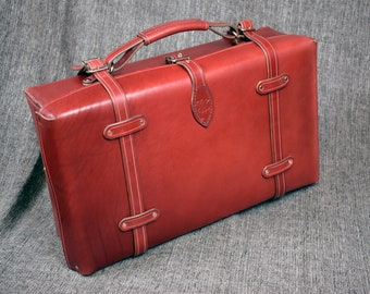 Handmade Leather Suitcase