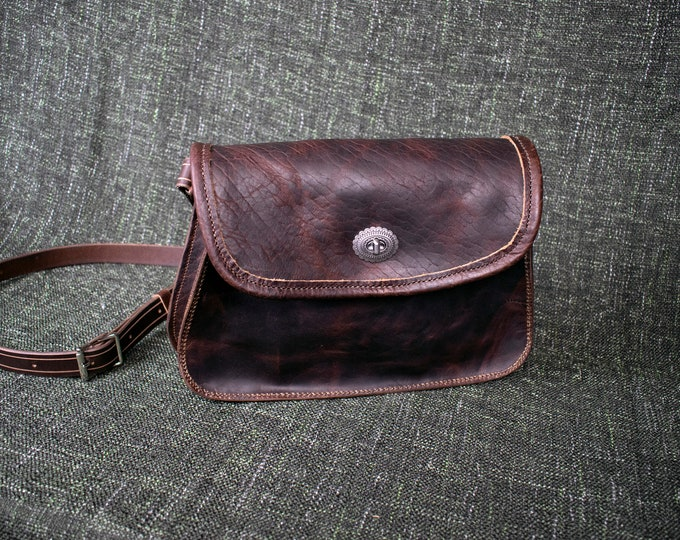 Featured listing image: Bison Leather Crossbody Bag