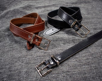 Handmade Leather Dress Belt Style 2