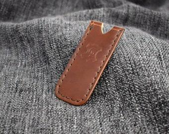 IN STOCK* Medium Pocket Slip in Bourbon Horween Shell Cordovan